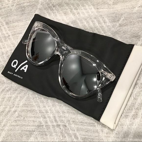 65495dcf2d Quay Isabell Cat Eye Sunglasses Clear